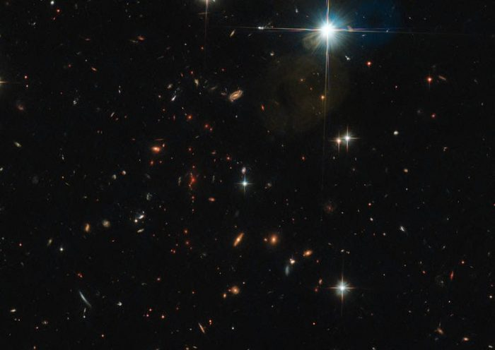 Behold this ancient crowd of galaxies in deep, deep space