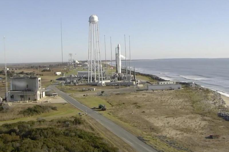 Antares rocket launches in ISS resupply mission
