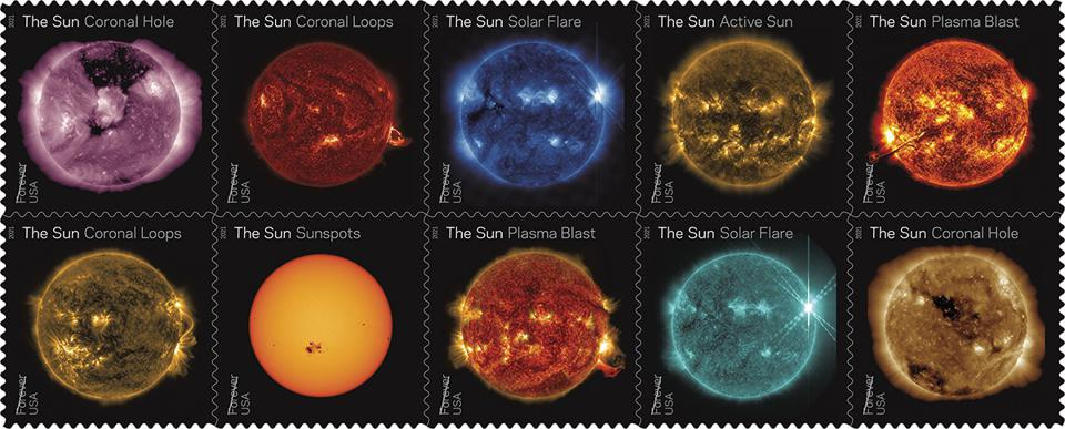 New USPS Stamps Shed Light On NASA Sun Science In Time For Summer
